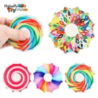 Cross-border double-sided colorful fingertip spinning top Rainbow color finger decompression toy gift HJ30