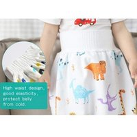 Skirts Comfy Cartoon Children Leak-proof High Waist Belly-protecting Diaper Skirt Breathable For Kids D88