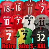 Retro United 2002 Jersey Jersey Man Football Giggs Scholes Beckham Ronaldo Cantona Solskjaer Manchester 07 08 93 94 96 97 98 99 86 88 90 91