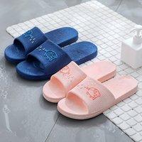 soft bathroom lovers 2020 indoor antiskid slippers bottom summer bath household shoes men's household shoes sanda