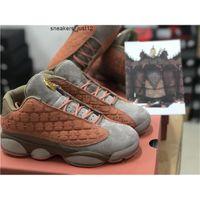 Clot x 13 Düşük Sepya Taş / Kantin-Terra Erkekler Basketbol Ayakkabıları 13s Allık Çinli Terracotta Savaşçı Spor Sneakers