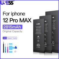 Usess para o iPhone 12 Battery Pro Max Original Lithium Bateria com ferramentas gratuitas Kit Real Substituição de alta capacidade 0 ciclo