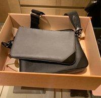 Bolsas homens de couro trio mensageiro sacos de ombro luxuoso maquiagem bolsa bolsa bolsa de bolsa de bolsa do homem