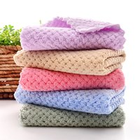 Coral fleece Kitchen Towel Soft Wiping Rags Super Absorbent Non-stick Oil Cleaning Cloth Remover Dish Car Hand Towels Lint Free Home Travel Easy to dry JY0764
