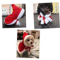 Cat Costumes Funny Pet Christmas Cloak Cute Santa Cape Dress Up Chihuahua Pug Pets Dogs Small Medium Kitten Outfit
