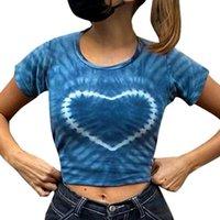 Women's T-Shirt Y2K Women Crop Top Summer Round Neck Graphic Print Short T Shirt Navel Casual Daily Wear Shopping Date
