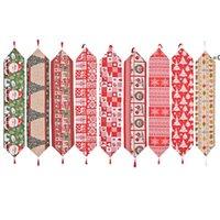 크리스마스 천으로 테이블 러너 180 * 35 cm 메리 크리스마스 부엌 테이블 장식 HHD11246
