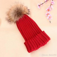 2020 Best Winter Wool Knitted Beanies Hat for Women Faux Fuzzy Fur Pom Ball Pompom Skullies Ski Hat Slouchy Caps Bonnet Streetwear