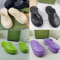 Дизайнерские женские дырочные тапочки роскошные мужские резиновые сандалии 5см / 2,2 см толстые дна EVA обувь летний пляж увеличить платформу нескользящей повседневной обувной коробке