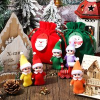 Christmas Elves Colorful Elf Doll Elf Twins Baby with Velvet Bag Elf Accessories for Xmas New Year Advent Calendar Christmas Stocking Stuffer