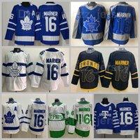 Toronto Maple Leafs 16 Mitchell Marner Jersey Reverse Retro Arenas Stadium Series 2018-2017 Centennial Classic 100th Anniversary St Pattys Day Pats Blue Branco