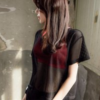 Yoga Outfits Summer Women Short Sleeve Mesh Hollow Out T-shirt Quick Drying Jogging Sports Tops THJ99