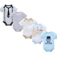 Rompers Born Bodysuit 5Pcs lot Cotton Cartoon Design Printing Summer Bodys Clothing Roupas De Jumpsuit Baby Girl Clothes