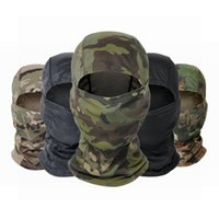 Cycling Caps & Masks Warmer Outdoor Hunting Hiking Skiing Scarf Army Camo Bandana Tactical Military Balaclava Full Face Neck Head