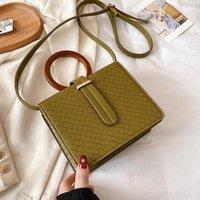 Evening Bags Top Quality Shoulder Bag Handbags Women Satchels Wooden Handle Crossbody Messenger Designer