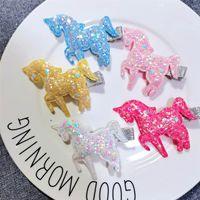 Baby Hair Accessories Slides Kids Barrettes Girls Bb Clip Clips Childrens Accessory Unicorn Sequin Love Fashion B5336