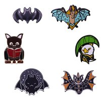 Pins, Brooches Bat Enamel Pin Collection Halloween Spooky Animal Brooch Gothic Witch Accessories
