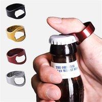 휴대용 손가락 반지 병 오프너 다채로운 스테인레스 스틸 맥주 바 도구 바이얼 호의 파티 용품 부엌 도구 선물 5 색 E3411