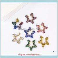Jewelrylove Heart Star Cz Crystal Earcuffs Earrings For Women Colorful Multi-Hoop Cuff Boho Clips On Ear Rainbow Jewelry Drop Delivery 2021