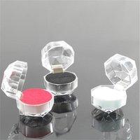 Pendientes de anillo de plástico transparentes Pantalla Cajas Colgante Beads Organizador de almacenamiento Paquete de caja Regalo Joyería de moda Joyería
