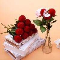 Coffrets de mariage cadeaux Boîte à anneau en forme de rose Mini Cas de transport rouge mignon pour bagues Afficher boîtes de bijoux Boîtes d'emballage Boîtes-cadeaux89 Q2