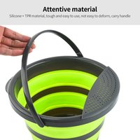 Buckets 4L 10L Multifunctional Portable Bucket Water Storage Bag Waterproof Fishing Folding For Hiking Camping Outdoor