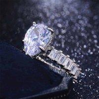 10ct grande anel de diamante simulado jóias vintage Único cocktail pêra corte branco topázio gemstones casamento anel de noivado para mulheres 125 R2