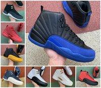 12s kışlık wntr spor salonu kırmızı michigan erkek basketbol ayakkabı ana ters grip oyunu kraliyet taksi 12 ovo beyaz erkekler spor sneakers tasarımcı eğitmenler ayakkabı