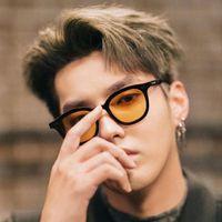 Нежные солнцезащитные очки Flatba Мужчины Женщины Винтаж Маленькая круглая рамка Солнцезащитные Очки UV400 Линза 2021 Мода Lang Brand