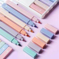 Highlighters KDD 6Colors set Candy Color Highlighter Pen Stationery Fluorescent Marker Art Mark Office School Supplies