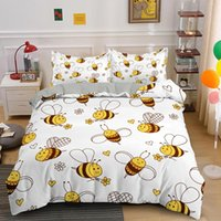 Bedding Sets Cute Bee Honey Cartoon Single King Queen Set Duvet Comforter Quilt Covers 2 3pcs With Pillowcase Bedclothes