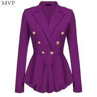 Frauenanzüge Blazer Frauen Mode Langarm Solid Button Slim Jacke Herbst, Frühling Lässig, Büro, etc Casual Blazer Buttons