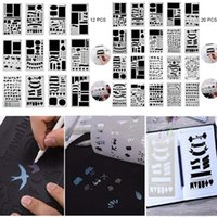 Craft Tools 12 20 Pcs Journal Stencil Set Plastic Planner DIY Drawing Template For Diary Notebook Scrapbook Uacr Embellishments Arts