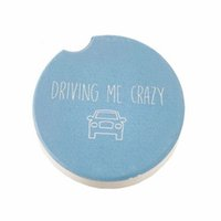 Sublimation Blank Car Ceramics Coasters 6.6*6.6cm Transfer Printing Coaster Consumables Materials Factory Price Eea2086-1