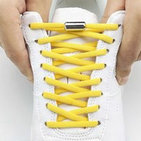 Elastic Laces Sneakers for Women Men Casual Shoelaces Without Ties Quick Lazy Metal Lock Laces Shoe Strings Shoes Accesories Y0928
