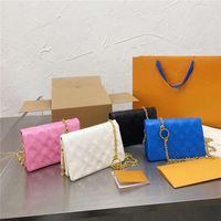 Handtaschen Frauen Luxurys Brief geprägt Neue Ankunft Umhängetaschen Farbkontrast Hohe Qualität Crossbody Bags Tri-Fold Satchel