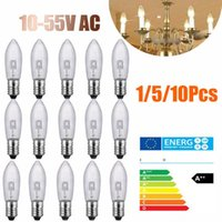 Otras bombillas de iluminación Tubos 1/5 / 10pcs E10 LED Lámpara de reemplazo de la lámpara de la lámpara de la luz de la vela para las cadenas 10V-55 V CAPA DE CABATOS DE LA COCINA DE LA COCINA DE LA COCIO DE LA COCIO
