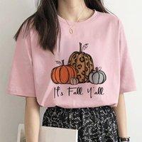 Women's T-Shirt Harajuku T-shirts Goth Kawaii Pumpkin Print Tshirts Mujer Camisetas Vintage Female Tops Poleras Aesthetic Clothes