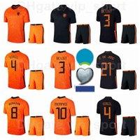 Países Bajos Soccer 10 Memphis Depray Jerseys Set 11 Quincy Promes 19 Luuk de Jong 8 Georginio Wijnaldum Football Shirts Kits 2020-21 EUROPA CUP