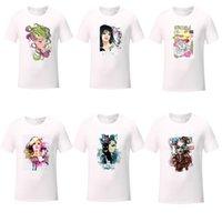 Damenmode Druck T-Shirt Trend Street Kurzarm T-Shirt Tops Designer Weibliche Atmungsaktive dünne weiße T-shirts Freizeitkleidung