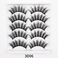 False Eyelashes 5 2 Pairs 3d Faux Mink Hair Drama Natural Long Eye Lashes Wispy Makeup Extension Tools Sexy Black