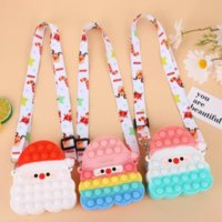 Finger toy sensual Santa Claus Christmas fashion childrens cosmetics small coin bag one shoulder girl gift adult decompression party surprise wholesale WHT0228