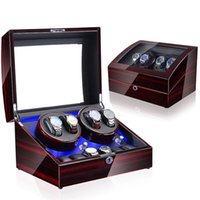 Watch Boxes & Cases Light Led Automatic Orbit Mabuchi Luxury Engine Winder Box Rotating May Contain Four Hanical Clos And 6 Quartz 4