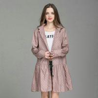New Fashion Lightweight Women Raincoat With Hat Laydies Dress Style Rain Coat Waterproof Rainwear Jacket 210320