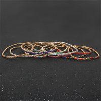 20Pcs Lot 7Inch Men'S Hip Hop Bracelet Tin Alloy Gold Silver Iced Rhinestone Crystal 1 Row Tennis Chain Bracelet Drop Shipping 984 Q2