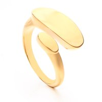 VAROLE Punk Simple Flat Rings For Women Minimalist Open Gold Color Midi Ring Fashion Jewelry Gifts Anillos Mujer