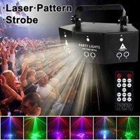 9-Göz Lazer Projektör Disko Partys Işık Ses Kontrolü LED Özel Efektler DMX512 Denetleyicisi Tatil Partisi Bar Dekorasyon Dizeleri için