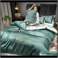 Sets Supplies Textiles Home & Gardenlight Luxury Bed Sheet 3-Piece Dormitory Single Bedding 4-Piece Nordic Quilt Drop Delivery 2021 Yfrdc