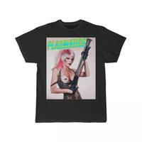 Plasmatics Wendy مع قمزة قصيرة الأكمام الرجال بندقية