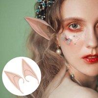 Decoración de la fiesta 1pair Cosplay Latex Fairy Angel Elf Orears Halloween Masquerade Disfraces Suministros PO BUPS